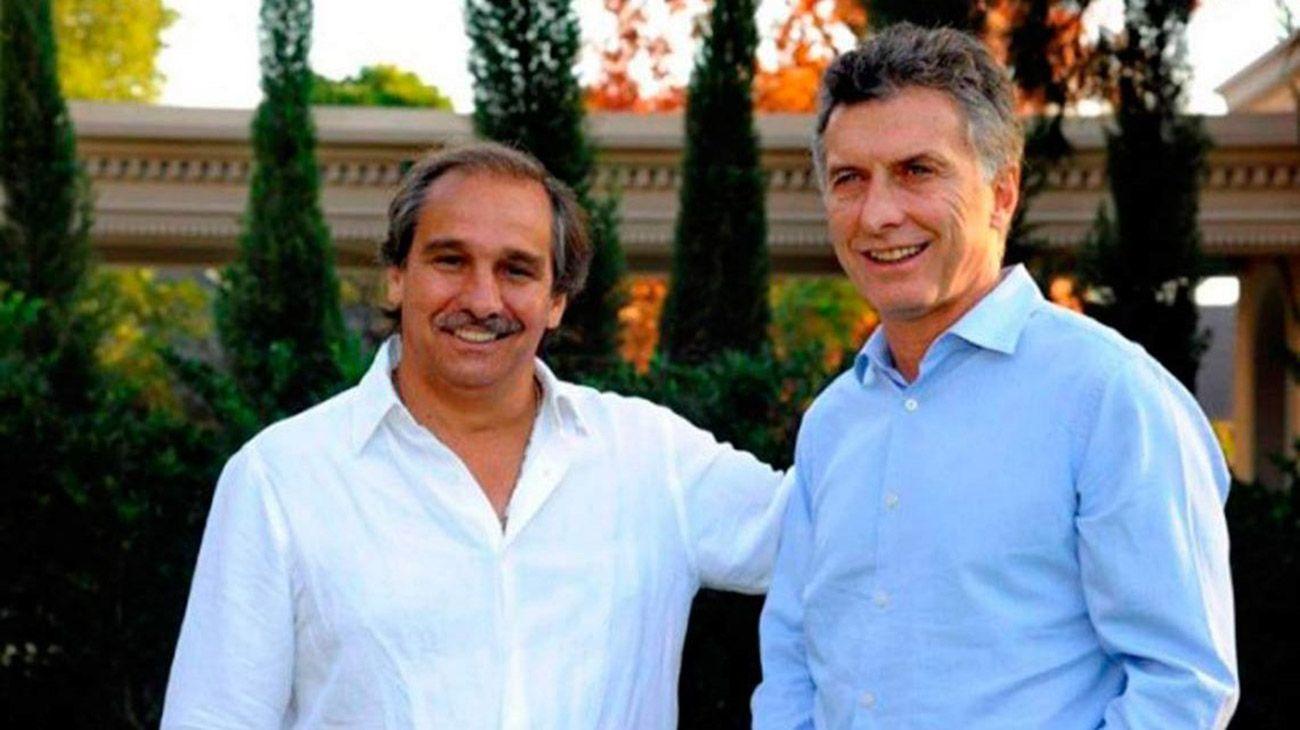 Maurico Macri y Nicky Caputo