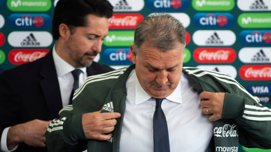 "Gerardo ""Tata"" Martino has been unveiled as the new head coach of the Mexican national football team."