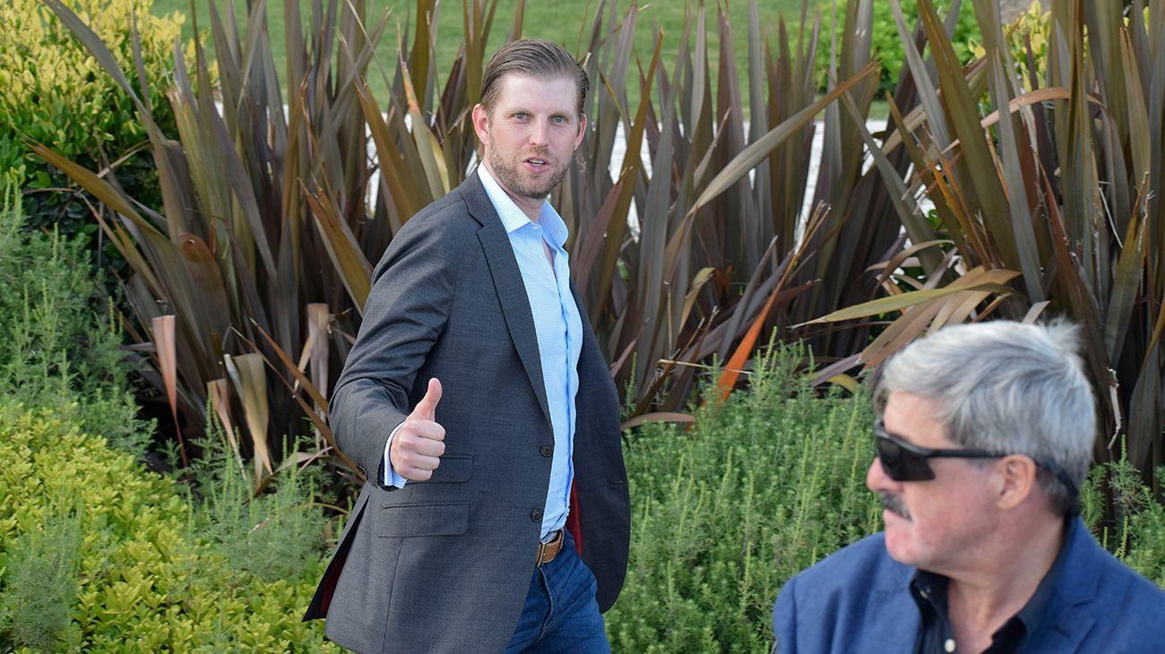 Por sociales y negocios, Eric Trump pasó fugazmente por Punta del Este