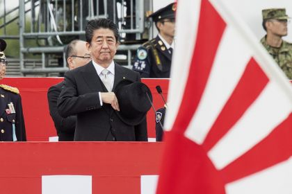 Japan Prime Minister Shinzo Abe Inspects Self-Defense Forces at Annual Review