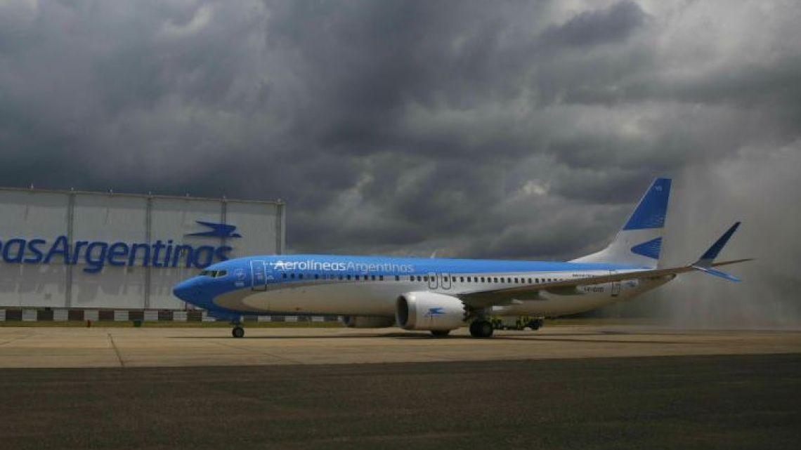 An Aerolinas Argentinas plane.