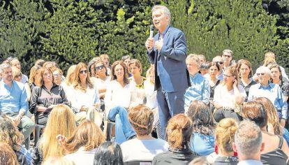 """Estilo. Macri suele emplear los términos """"juntos"""" y """"gracias""""."""