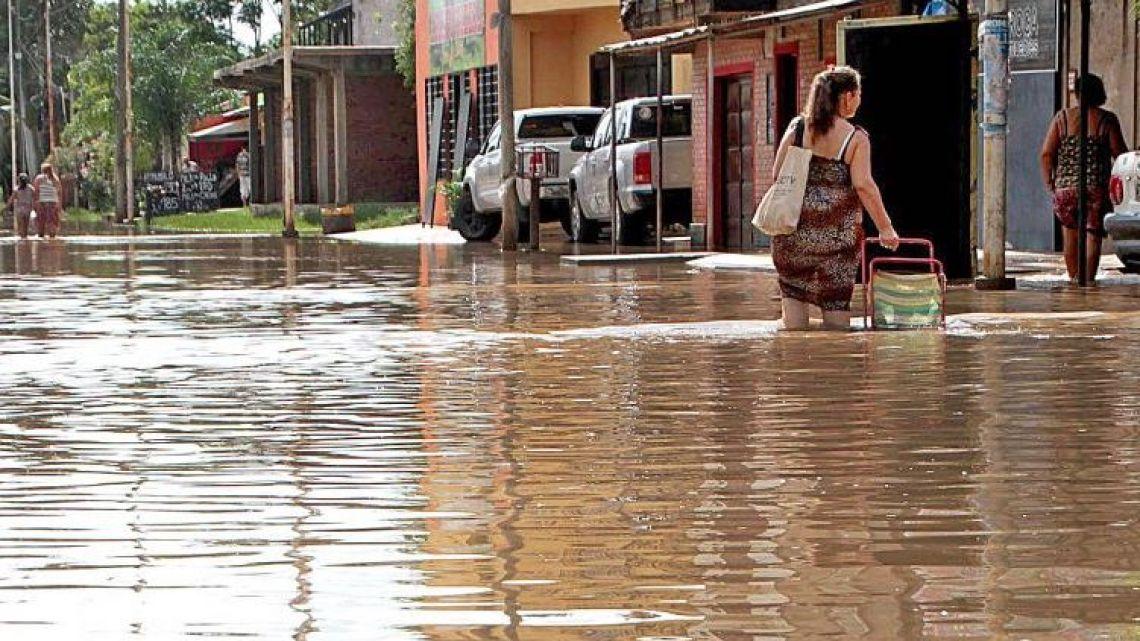 Flooding in Paso de los Libres, Corrientes province.