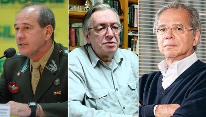 Fernando Azevedo, Olavo de Carvalho y Paulo Guedes