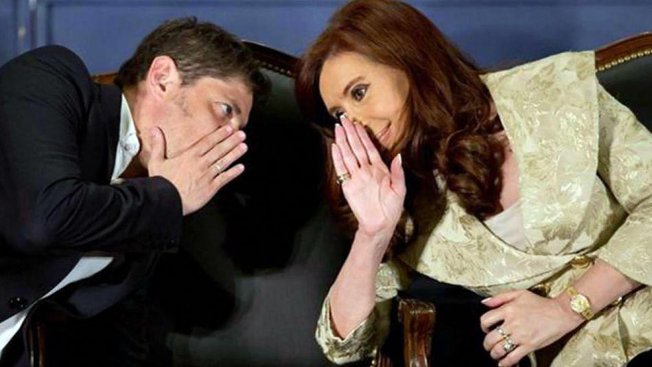 Axel Kicillof y Cristina Kirchner.
