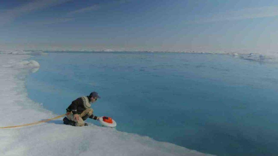 En Groenlandia asciende gas metano a la atmósfera