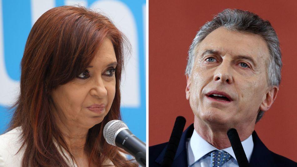 Cristina Kirchner y Mauricio Macri 01162019