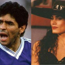 Maradona y Cris Miró