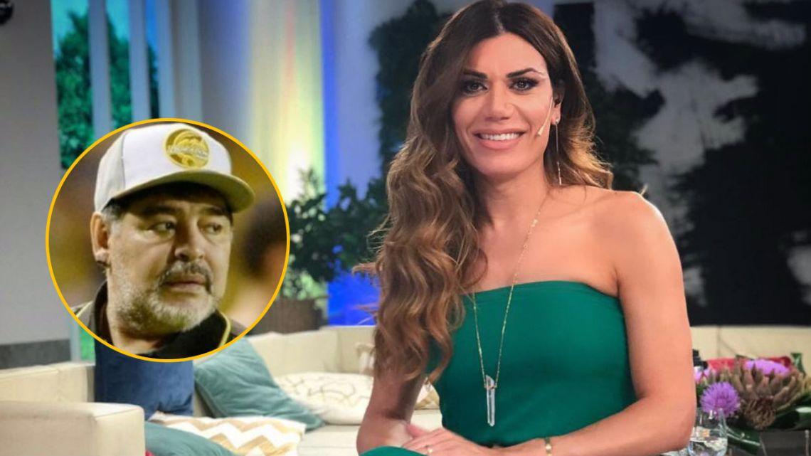 Florencia de la V y Diego Maradona