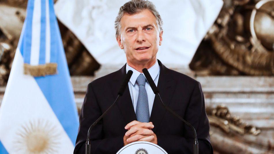 El presidente de la Nación, Mauricio Macri extincion de dominio