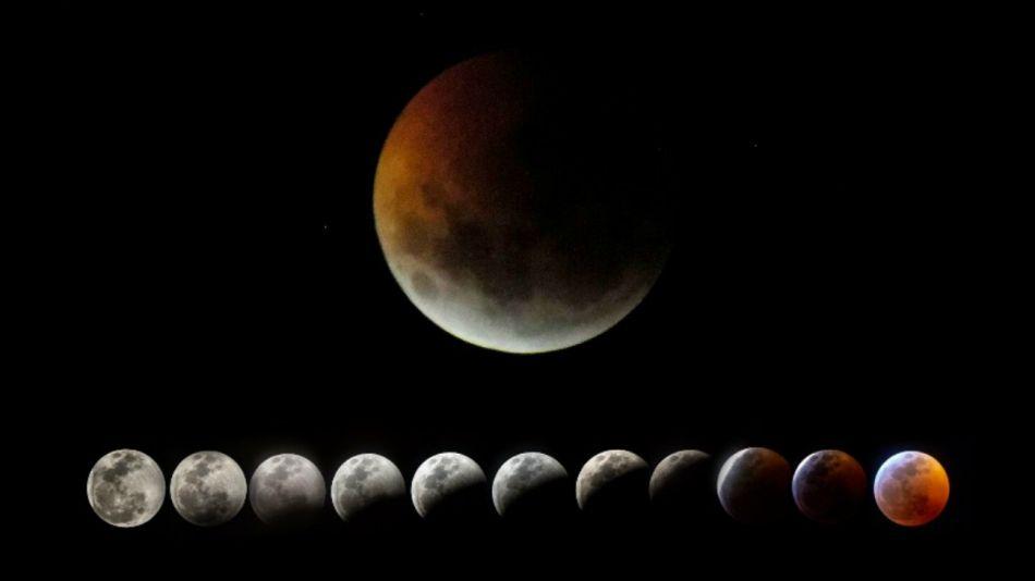 fotos montaje eclipse luna
