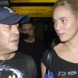 Diego Armando Maradona y Rocío Oliva