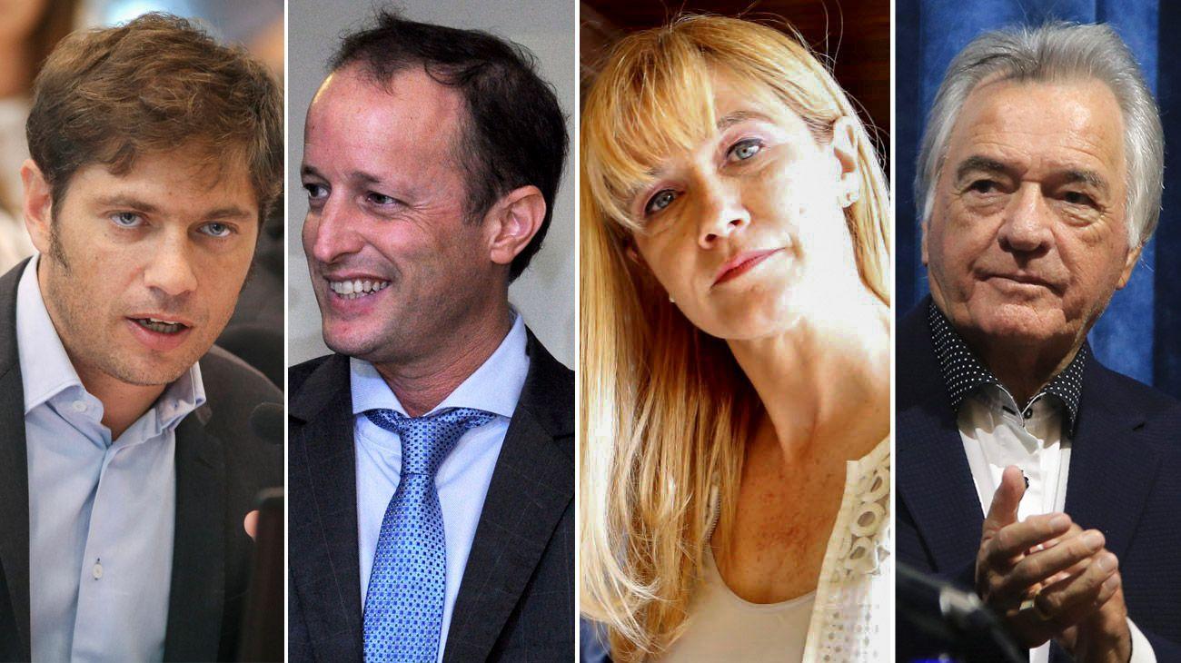 Axel Kicillof, Martín Insaurralde, Verónica Magario y Luis Barrionuevo