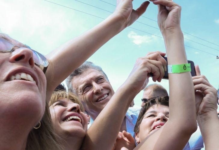 Macri en suipacha con Vidal