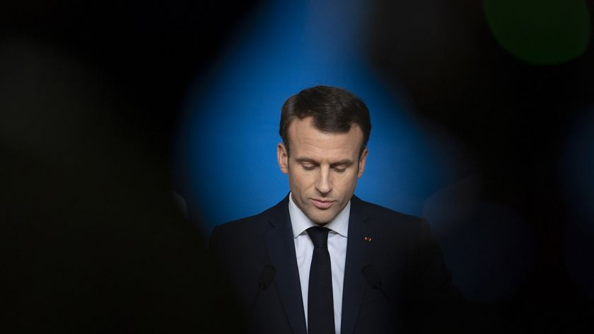 Los 'chalecos amarillos' y la CGT marcharon juntos en contra de Macron