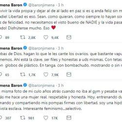 Jimena Barón le hizo frente a los comentarios.
