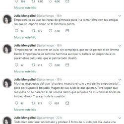 La periodista cargó contra la actriz.