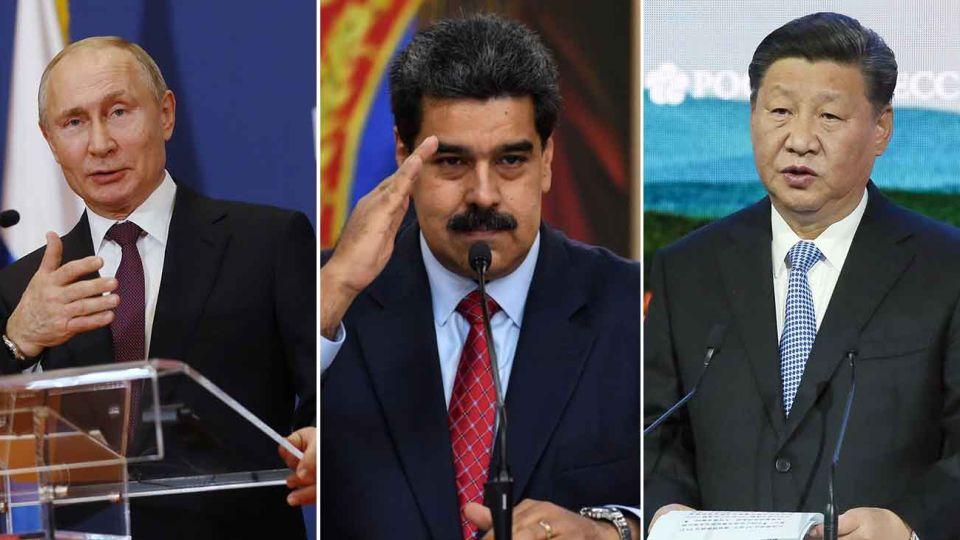 Xi Jinping, Maduro y Putin