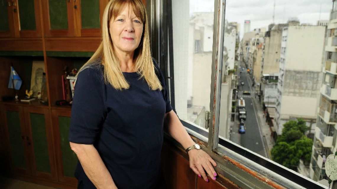 Margarita Stolbizer, pictured in her office in the Buenos Aires City district of Balvanera.