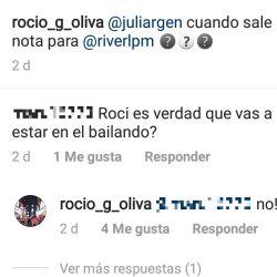 La respuesta de Rocío Oliva