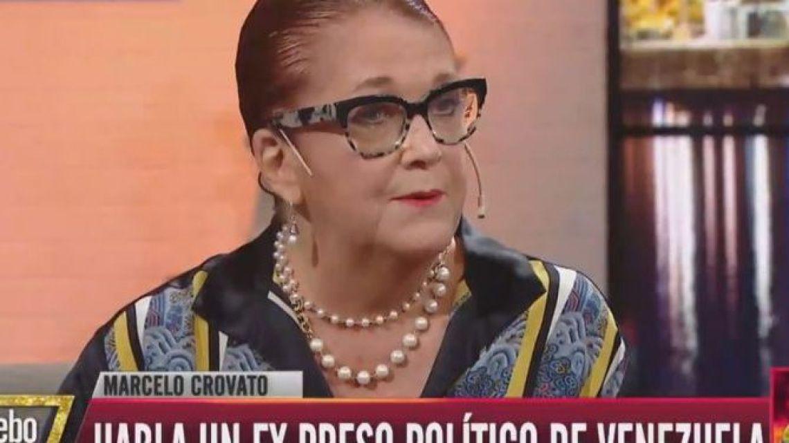 Former Argentine Ambassador to Venezuela Alicia Castro.