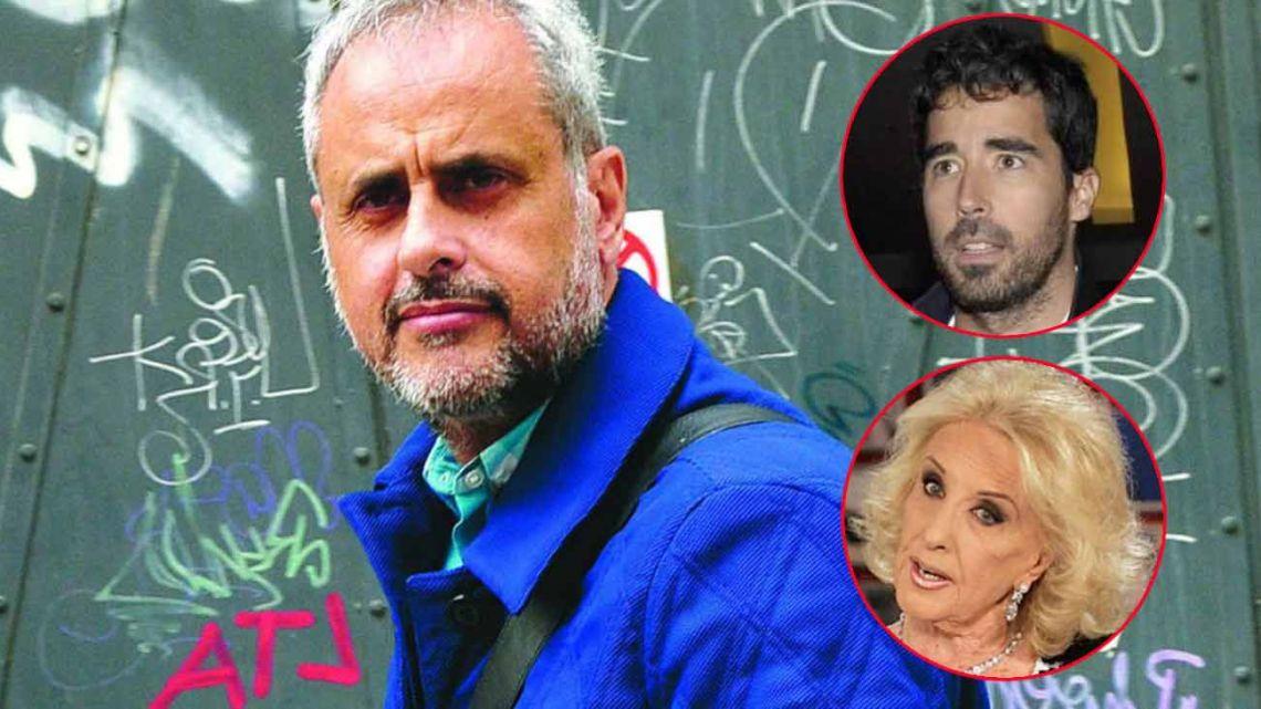 Jorge Rial, Mirtha Legrand y Nacho Viale