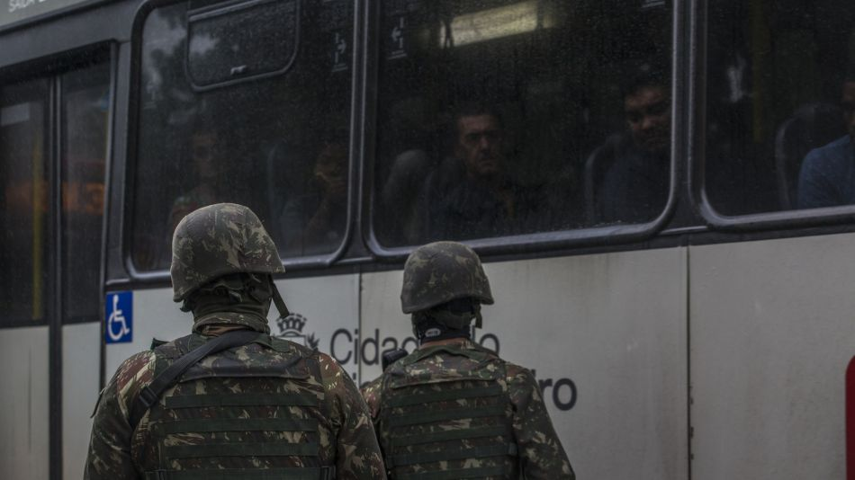 Brazilian Military Patrol As Forces Take Over Security