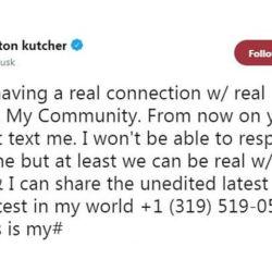 El mensaje de Ashton Kutcher