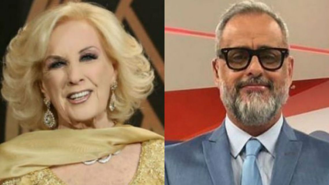 Mirtha Legrand y Jorge Rial