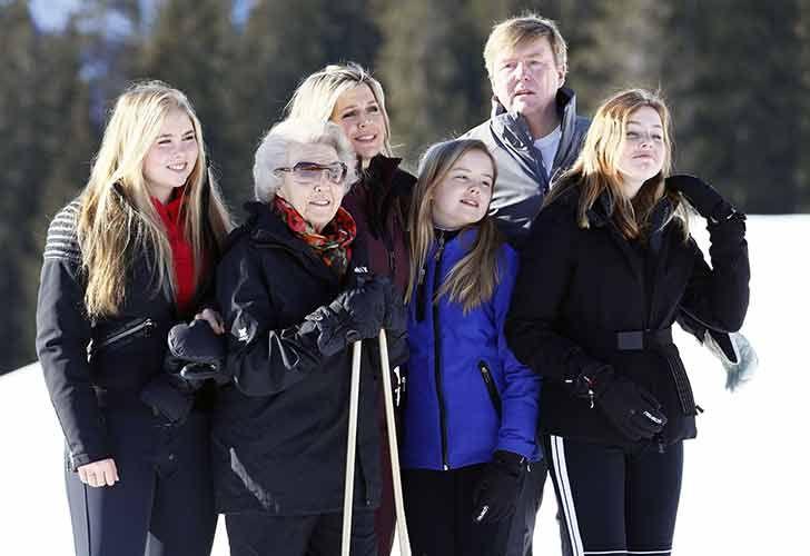 La familia real holandesa se divierte en la nieve