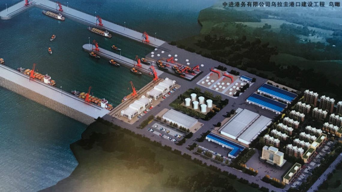 Plans for the port show a 500-metre dock, shipyard and factory.