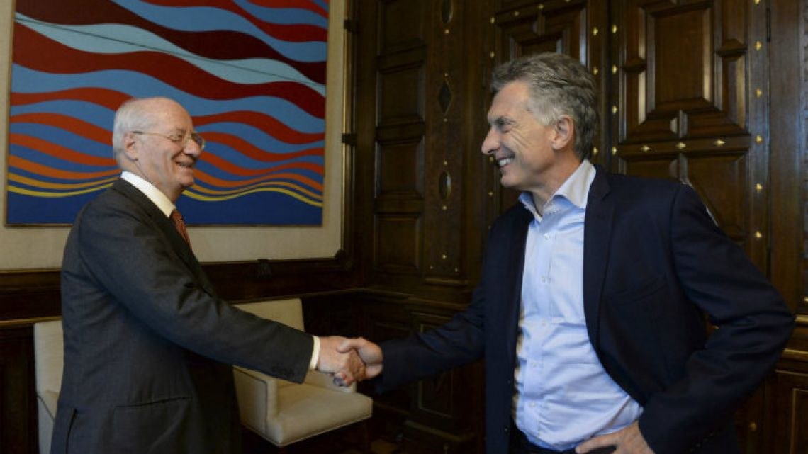 President Mauricio Macri and Paolo Rocca, in happier times.
