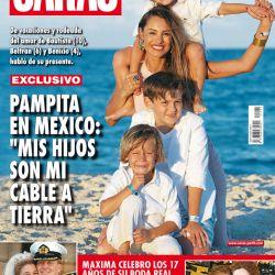 Pampita y hijos en mexico