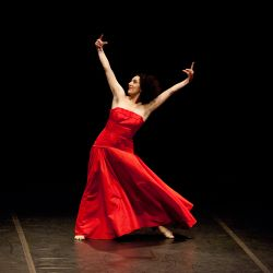 Moving with Pina: A Lecture Performance on the Poetry, Technique and Creativity of Pina Bausch, a work by Cristiana Morganti.