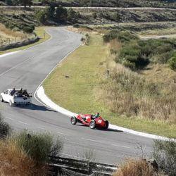 Captura del equipo de filmación en el autódromo de la ciudad de Balcarce