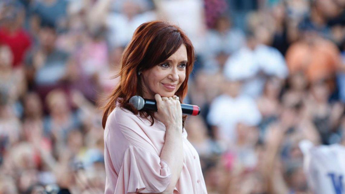 Senator for the Buenos Aires province and former president Cristina Fernández de Kirchner