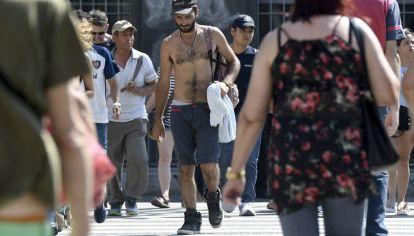 Ola de calor en la Ciudad de Buenos Aires.