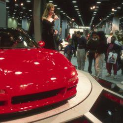Presentación del concept NS-X en el Salón de Chicago 1989.