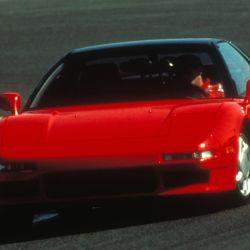 Ayrton Senna probando el NSX en 1990.