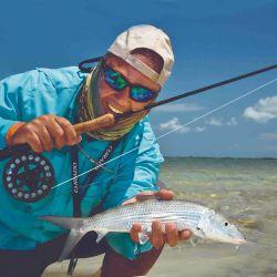 En la isla Grand Bahama fuimos en flycast tras estos esquivos ejemplares. También capturamos                 otras especies de los cayos, arrecifes y atolones.