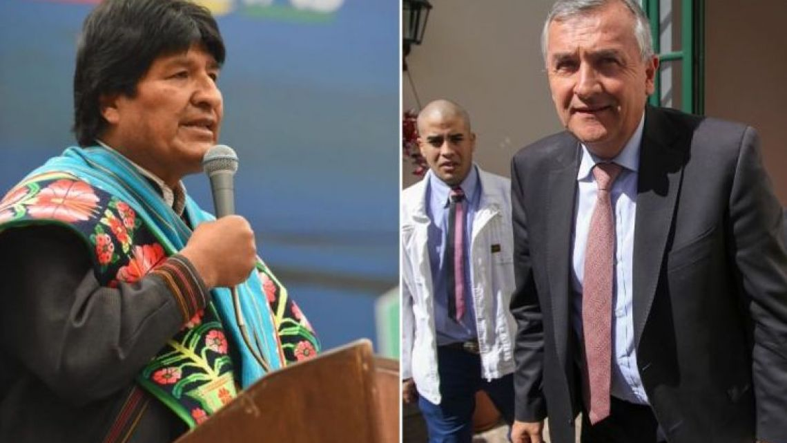 Evo Morales (left) and Gerardo Morales (right).
