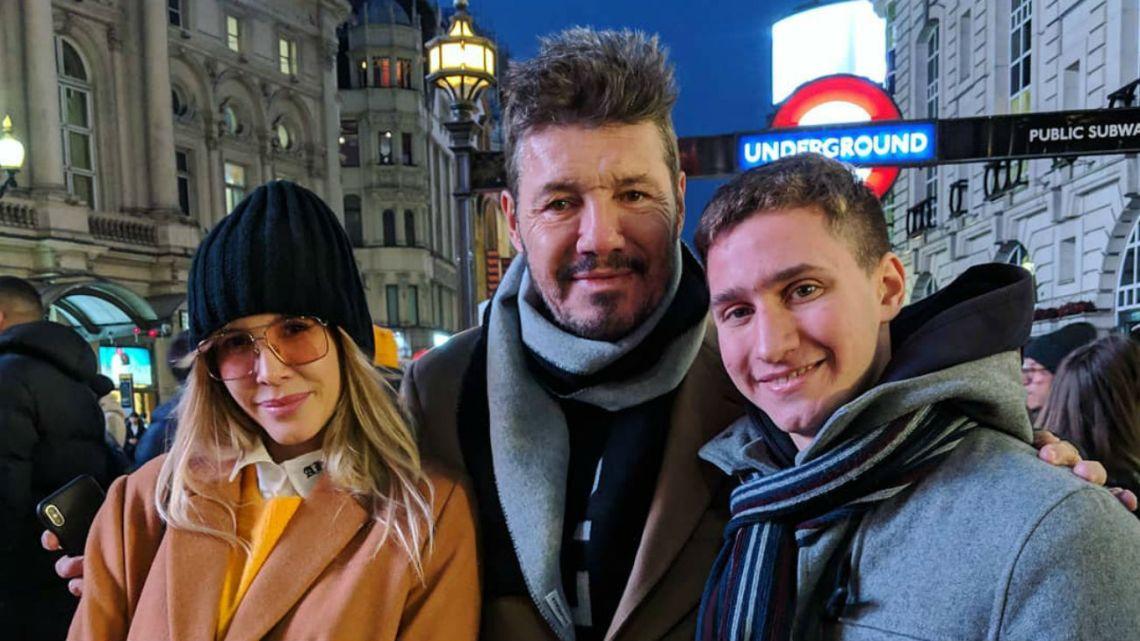 Guillermina Valdes, Marcelo Tinelli y Agustin Kakfa en el Picadilly Circus.