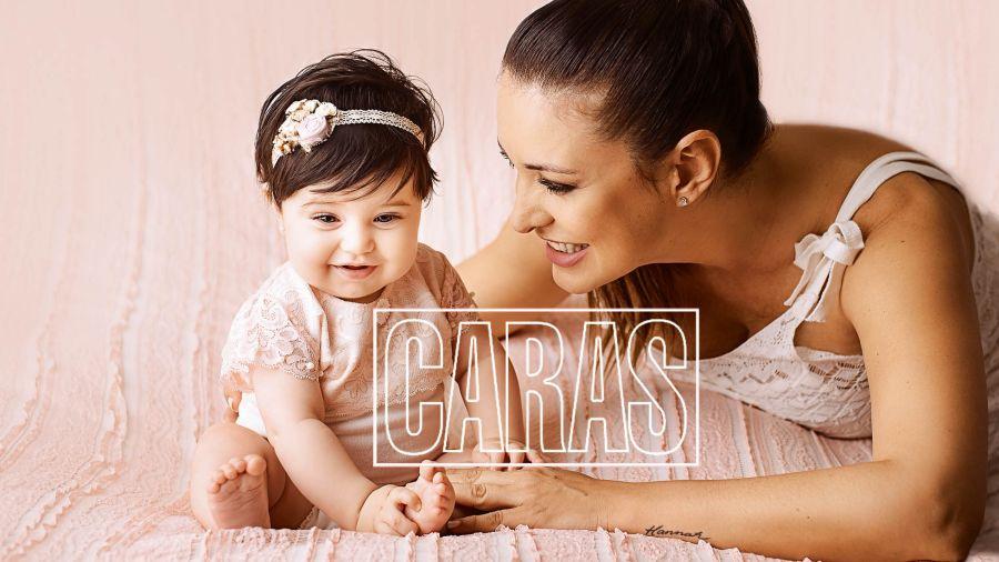 Andrea Estevez y su hija