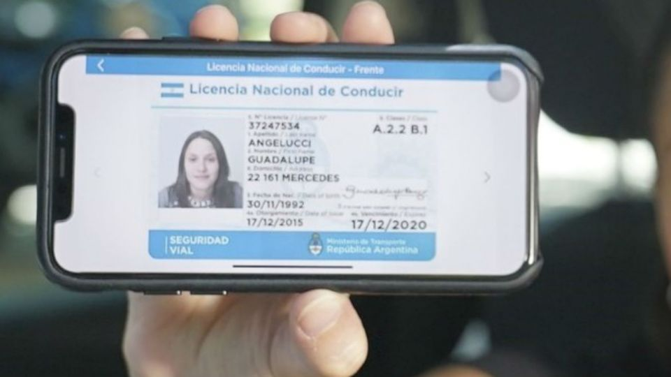 Así se verá la licencia de conducir digital desde el celular.
