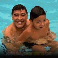 Maradona y Dieguito Fernando