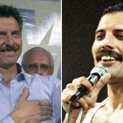 Mauricio Macri y Freddie Mercury