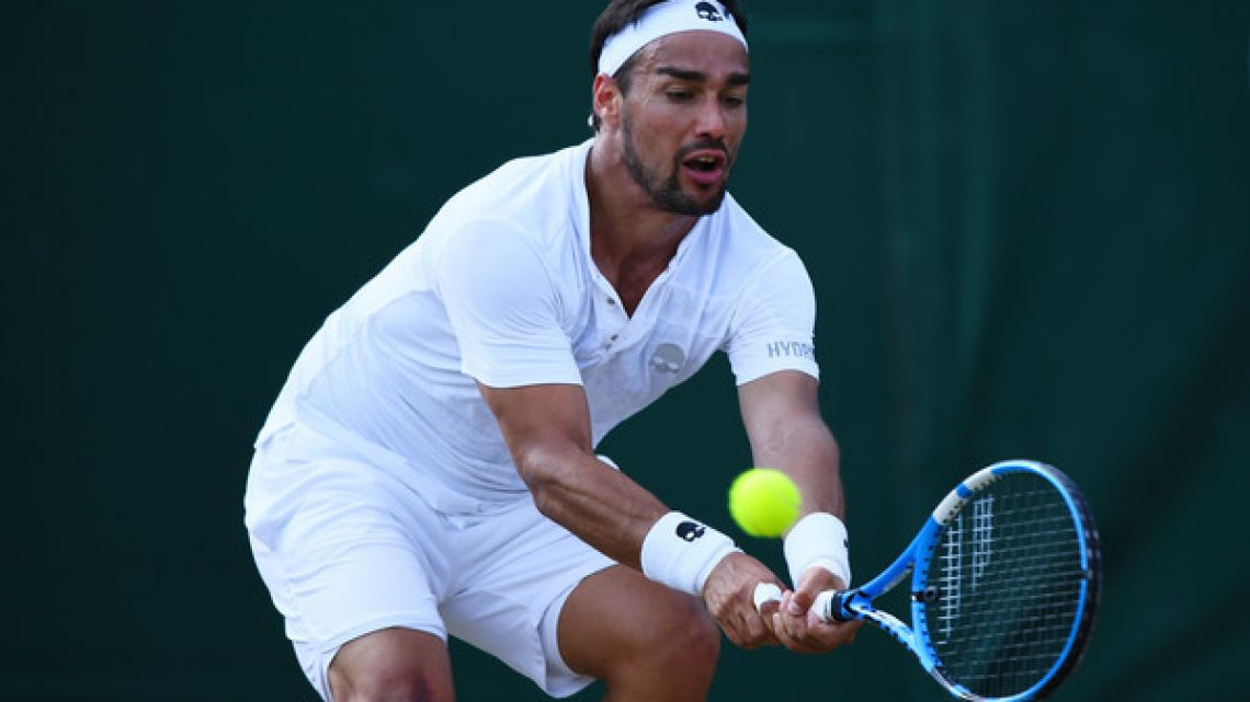 Fabio Fognini fell to Spain's Jaume Munar in the second round of the 2019 Argentina Open.