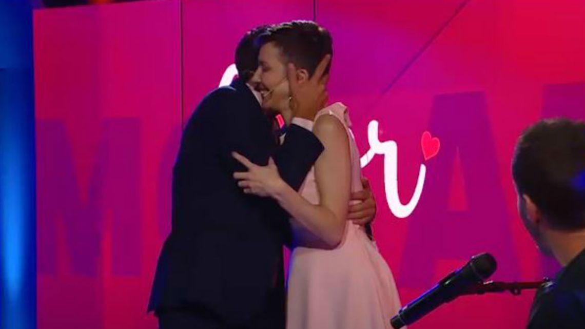 Rodolfo y Cristina hablaron de amor.