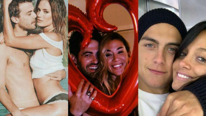 El amor está en el aire: los famosos celebraron el Día de los Enamorados