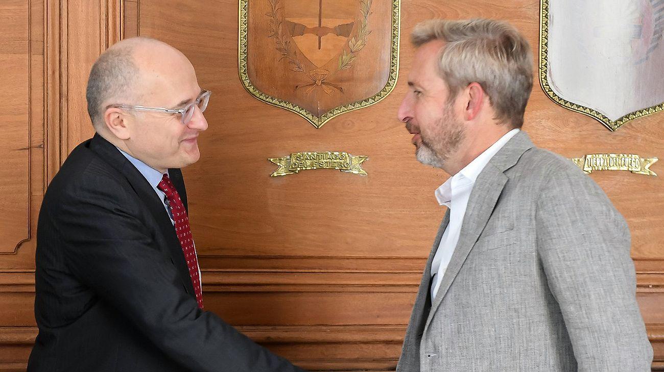 Rogelio Frigerio recibió a la misión del FMI: déficit, recaudación y elecciones en la agenda